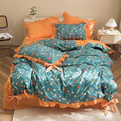 2020新款-全棉轻奢风系列四件套 床单款1.5m(5英尺)床 樱桃