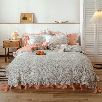 2020新款-公主风全棉韩式田园风系列四件套 床单款1.5m(5英尺)床 花海