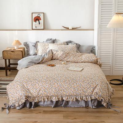 2020新款-公主风全棉韩式田园风系列四件套 床单款1.5m(5英尺)床 夏意