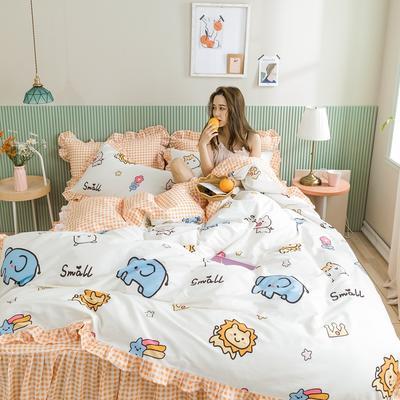 2020新款-公主风萌宝系列四件套 床单款三件套1.2m(4英尺)床 动物乐园