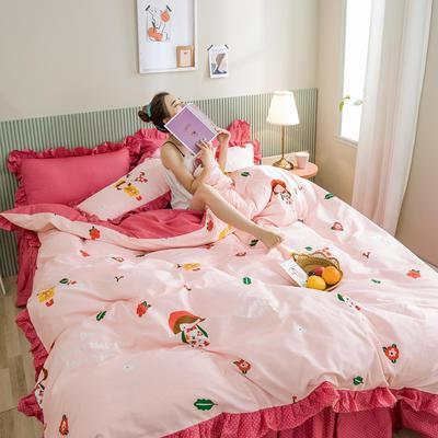 2020新款-公主风萌宝系列四件套 床单款三件套1.2m(4英尺)床 格瑞丝