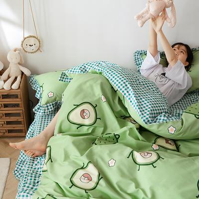 2020新款-公主风萌宝系列四件套 床单款三件套1.2m(4英尺)床 果果
