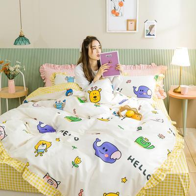 2020新款-公主风萌宝系列四件套 床单款三件套1.2m(4英尺)床 欢乐颂