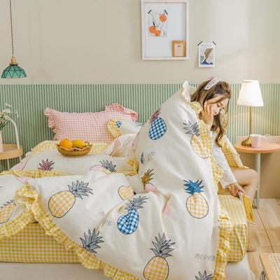 2020新款-公主风萌宝系列四件套 床单款三件套1.2m(4英尺)床 萝莉