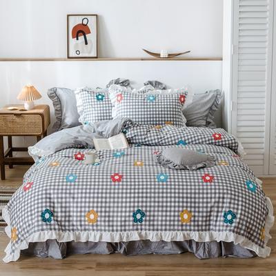 2020新款-公主风萌宝系列四件套 床单款三件套1.2m(4英尺)床 梦莎