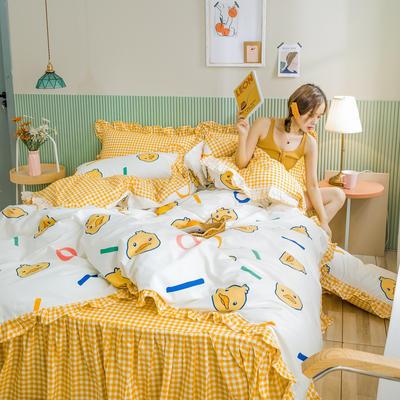2020新款-公主风萌宝系列四件套 床单款三件套1.2m(4英尺)床 童趣