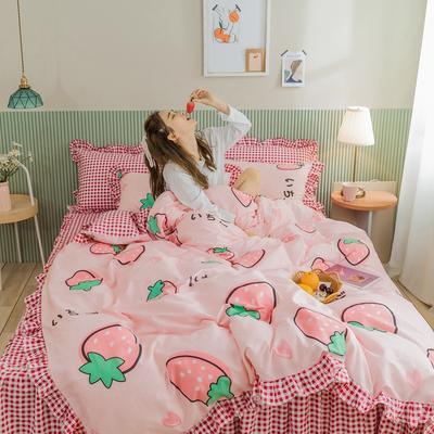 2020新款全棉公主风梦系列&萌宝系列四件套(床裙款) 1.2m床裙款三件套 朵拉