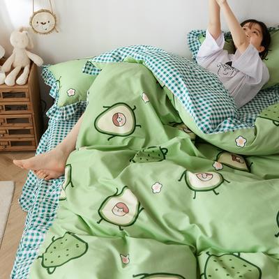 2020新款全棉公主风梦系列&萌宝系列四件套(床裙款) 1.2m床裙款三件套 果果