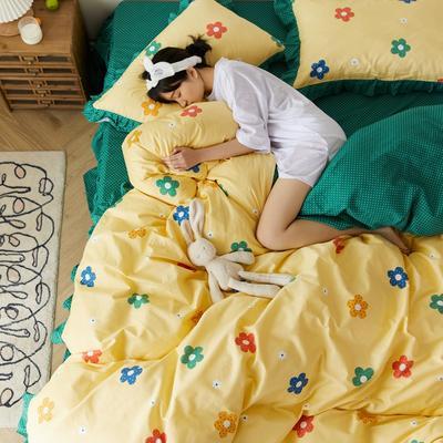 2020新款全棉公主风梦系列&萌宝系列四件套(床裙款) 1.2m床裙款三件套 七彩梦