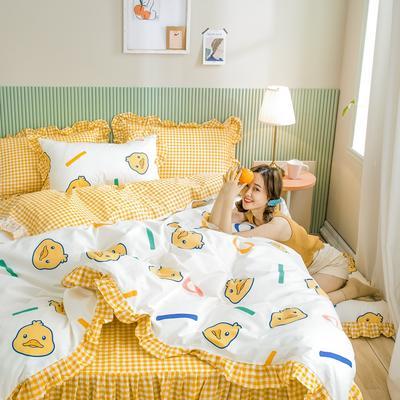2020新款全棉公主风梦系列&萌宝系列四件套(床裙款) 1.2m床裙款三件套 童趣