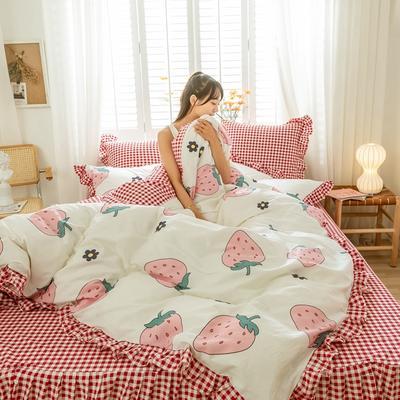 2020新款全棉公主风梦系列&萌宝系列四件套(床裙款) 1.2m床裙款三件套 伊诺