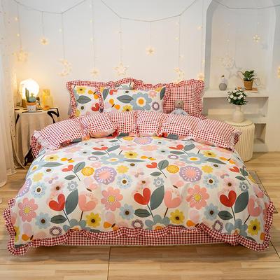 2020款新款-全棉萌宝系列四件套(实拍) 床单款四件套1.5m(5英尺)床 缤纷