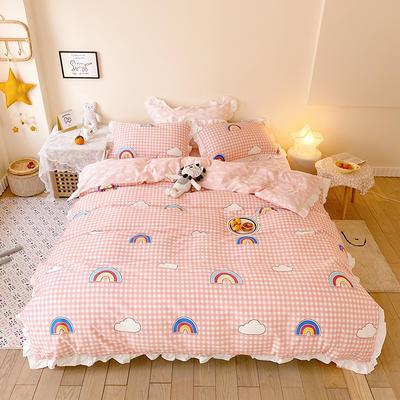 2020款新款-全棉萌宝系列四件套(实拍) 床单款四件套1.5m(5英尺)床 彩虹梦