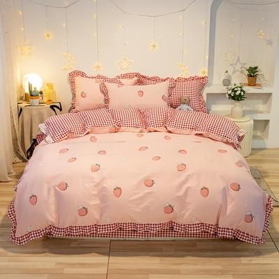 2020款新款-全棉萌宝系列四件套(实拍) 床单款三件套1.2m(4英尺)床 草莓园