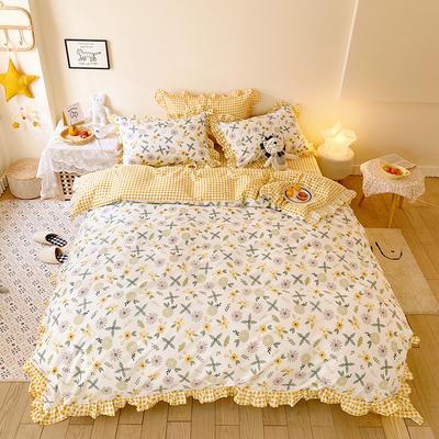 2020款新款-全棉萌宝系列四件套(实拍) 床单款四件套1.5m(5英尺)床 丁香