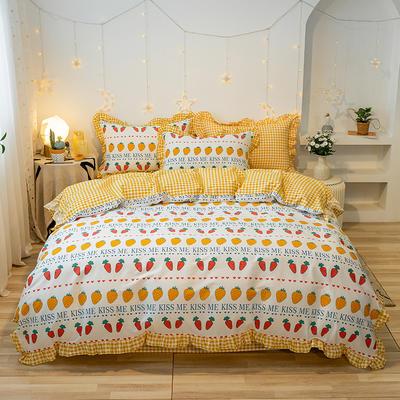 2020款新款-全棉萌宝系列四件套(实拍) 床单款三件套1.2m(4英尺)床 果园