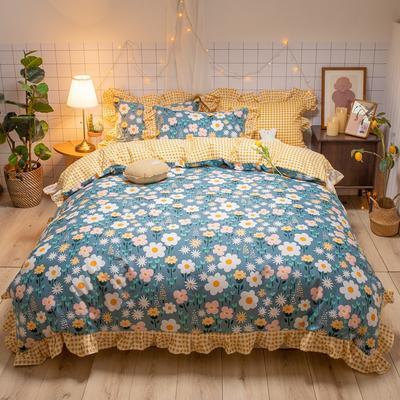 2020款新款-全棉萌宝系列四件套(实拍) 床单款四件套1.5m(5英尺)床 花间