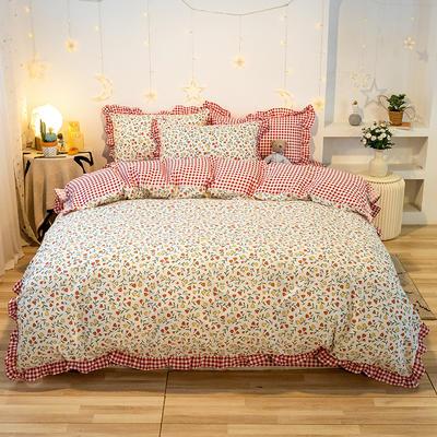 2020款新款-全棉萌宝系列四件套(实拍) 床单款四件套1.5m(5英尺)床 花蕾
