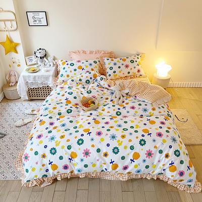 2020款新款-全棉萌宝系列四件套(实拍) 床单款四件套1.5m(5英尺)床 花蜜
