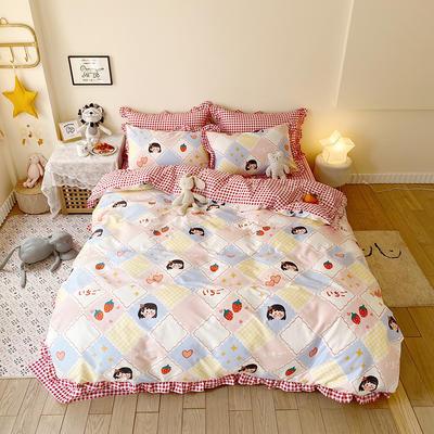 2020款新款-全棉萌宝系列四件套(实拍) 床单款四件套1.5m(5英尺)床 卡哇依