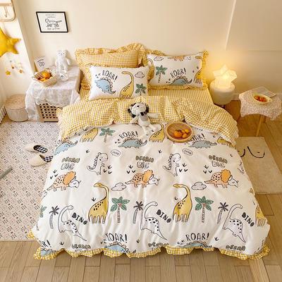 2020款新款-全棉萌宝系列四件套(实拍) 床单款三件套1.2m(4英尺)床 恐龙