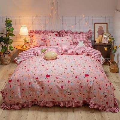 2020款新款-全棉萌宝系列四件套(实拍) 床单款三件套1.2m(4英尺)床 小红帽