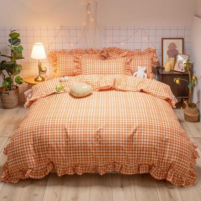2020新款-全棉公主风璇系列四件套 床单款三件套1.2m(4英尺)床 璇橙