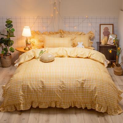 2020新款-全棉公主风璇系列四件套 床单款三件套1.2m(4英尺)床 璇黄