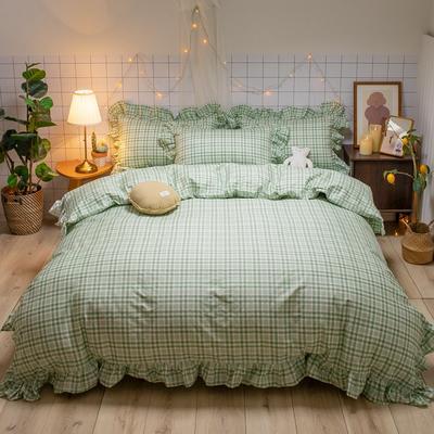 2020新款-全棉公主风璇系列四件套 床单款三件套1.2m(4英尺)床 璇绿
