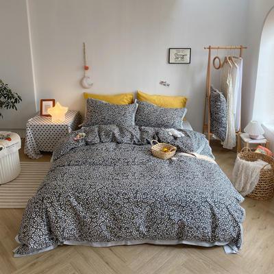 2020新款-全棉轻奢宽边四件套 床单款四件套1.5m(5英尺)床 卡尔
