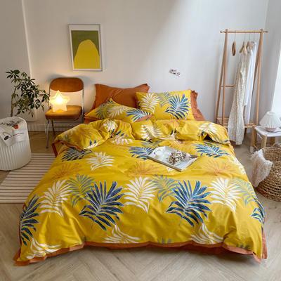 2020新款-全棉轻奢宽边四件套 床单款四件套1.5m(5英尺)床 乔曼