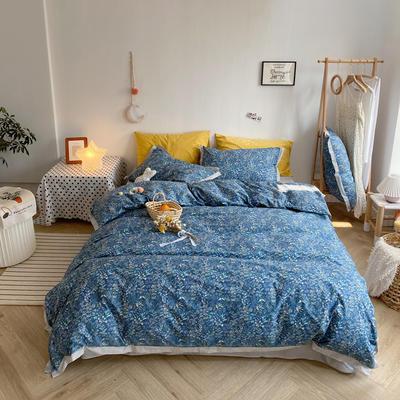 2020新款-全棉轻奢宽边四件套 床单款四件套1.5m(5英尺)床 思韵