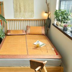 米亚家居  4.0雕花大头边中高端单竹席 200*220cm 碳化4.0(不含枕套)