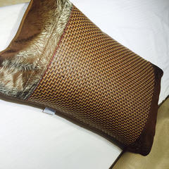 米亚家居  4.0雕花大头边中高端单竹席 120*190cm 藤枕套需另拍/一对