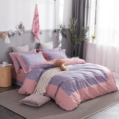 2019新款美肌棉韩款印花工艺款 1.5m(5英尺)床 朵唯~紫