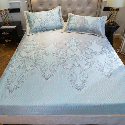 2019新款床笠冰丝席--提花款 1.5m三件套 欢乐颂