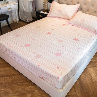 2019新款床笠冰丝席--提花款 1.5m三件套 星晴--粉