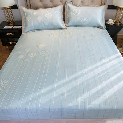 2019新款床笠冰丝席--提花款 1.5m三件套 雪绒花--米兰