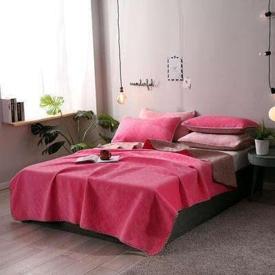 2019新款网红萝莉床盖毯 同款枕套/对 芭比粉