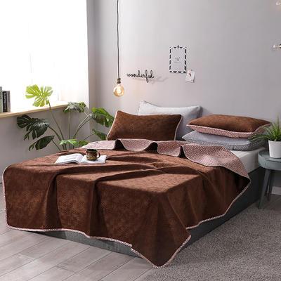 2019新款网红萝莉床盖毯 同款枕套/对 咖啡色