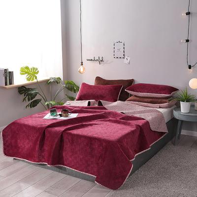 2019新款网红萝莉床盖毯 同款枕套/对 拉菲红