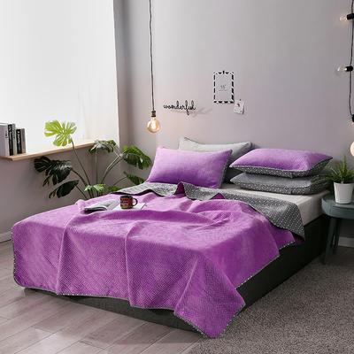 2019新款网红萝莉床盖毯 同款枕套/对 梦幻紫