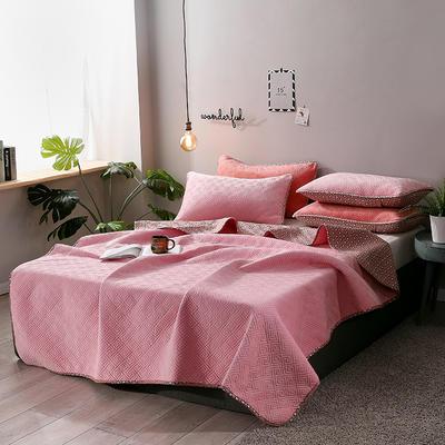 2019新款网红萝莉床盖毯 同款枕套/对 少女粉