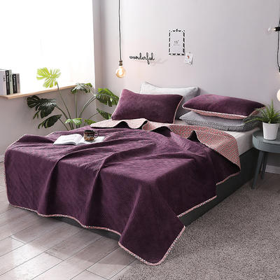2019新款网红萝莉床盖毯 同款枕套/对 水晶紫