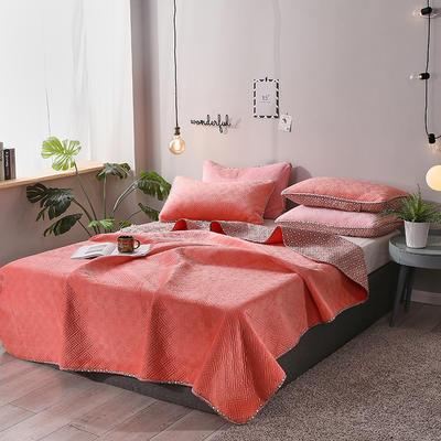 2019新款网红萝莉床盖毯 同款枕套/对 甜心桔