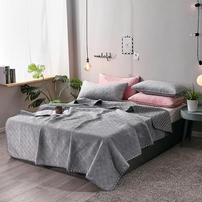 2019新款网红萝莉床盖毯 同款枕套/对 银灰色