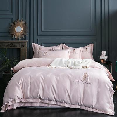 2019新款-艾羽丝真丝系列四件套单面 床单款四件套1.8m(6英尺)床 艾羽丝-香槟