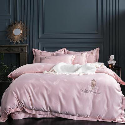 2019新款-艾羽丝真丝系列四件套单面 床单款四件套1.8m(6英尺)床 艾羽丝-玉
