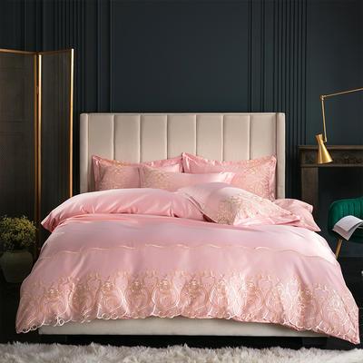 2019新款-莫妮卡真丝系列四件套单面 床单款四件套1.8m(6英尺)床 莫妮卡-玉