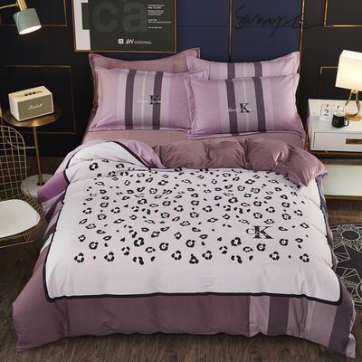 2019新款-棉加水晶绒四件套 床单款1.8m(6英尺)床 粉红豹